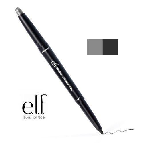2 Pack e.l.f. Cosmetics Studio Eyeliner & Shadow Stick 81102 Black / Smoke by e.l.f. Cosmetics