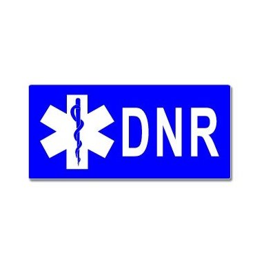 Dnr Do Not Resuscitate With Star Of Life - Window Bumper Sticker