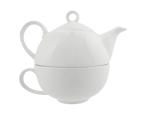 Primula Tea-For-One Porcelain Teapot - Glazed Interior - Does Not Retain Flavor - 12 Ounces - White (English Teapot For One compare prices)