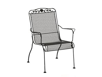 Woodard 5W0017 Windflower Mesh Stackable High Back Lounge Chair