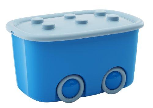 Kis 8630000028404scatola Funny Box, 46l, plastica, azzurro/blu, 58x 38,5x 32cm