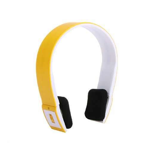 2.4G Wireless Bluetooth V3.0 + Edr Headset Headphone With Mic Bluetooth Stereo Headset With Microphone-In For Iphone 4/4S /Ipad 2 3 /Ps3 - Connect Two Bluetooth Equipments At The Same Time (Orange)