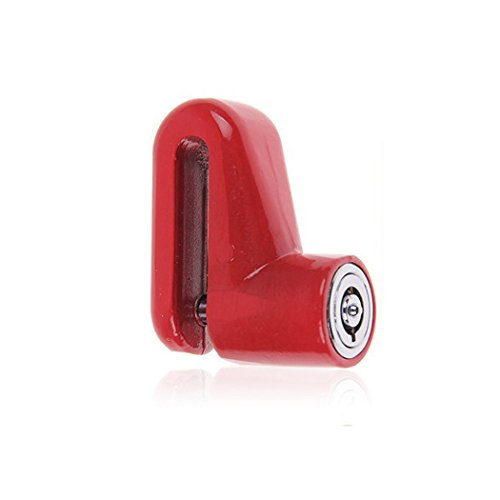 Generic Scooter Bike Bicycle Motorcycle Safety Anti-theft Disk Disc Brake Rotor Lock Red автомобильный усилитель 2 канала sony xm n502 q
