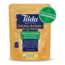 Tilda Whole Grain and Quinoa Steamed Basmathi Rice, 8.5 Ounce -- 6 per case. (Microwave Fried Rice compare prices)