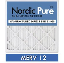 16x16x1-MERV 12 A/C Furnace Air Filters by Nordic Pure (Box of 6) image