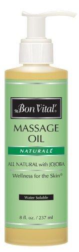 Bon Vital Naturale Massage Oil, 8 Oz. Bottle With Pump