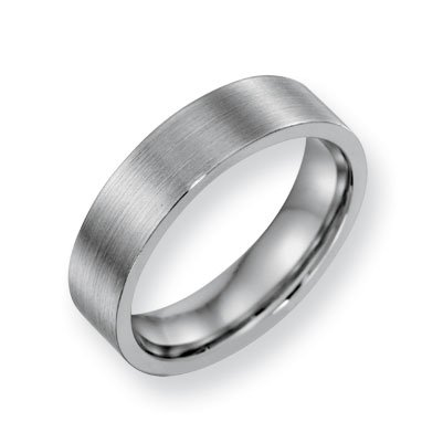 Cobalt Chromium Satin 6mm Band Ring - Size 9 - JewelryWeb