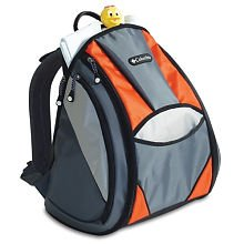columbia trekster diaper bag orange and grey designer nappy bags. Black Bedroom Furniture Sets. Home Design Ideas