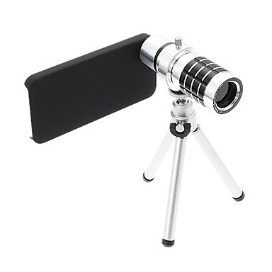 Zoom 12X Telephoto Aluminum Cellphone Lens With Tripod For Iphone 5S