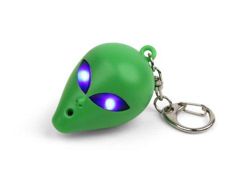 Kikkerland KRL33TC Alien LED Keychain with Sound