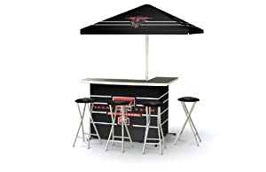 Best of Times Collegiate Patio Bar and Tailgating Center Deluxe Package- Texas Tech by Best of Times, LLC