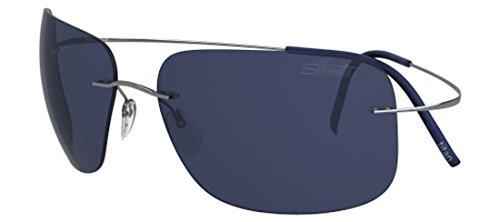 Silhouette - TMA ULTRA THIN 8677, Geometrico, titanio, uomo, SILVER/BLUE(6232 A)