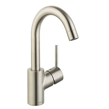 Talis S 190 Single Hole 1-Handle High-Arc Bathroom Faucet in Brushed Nickel
