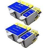 Kodak 10B / 10C - 4 Compatible Printer Ink Cartridges 2 Sets for Kodak EasyShare 3200, EasyShare 5000, EasyShare 5100, EasyShare 5200, EasyShare 5300, EasyShare 5500, ESP 3, ESP 5, ESP 7, ESP 9, ESP 3250, ESP 3200, ESP 5000, ESP 5100, ESP 5200, ESP 5210,