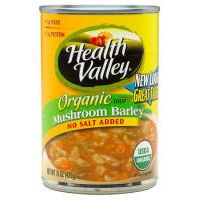 Health Valley Organic Soup No Salt Add Mushroom Barley (12X15Oz)