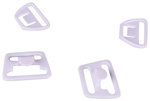 "Lowest Price! Porcelynne White Plastic Maternity Clip 3/4"" or 18mm 2 sets"
