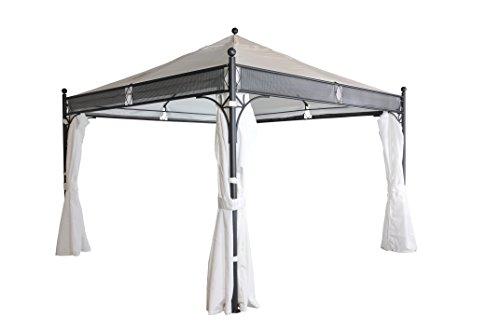 pavillon mit vier seitenw nden wei 350 x 350 cm sorara 250 g m polyester uv 50 f r. Black Bedroom Furniture Sets. Home Design Ideas