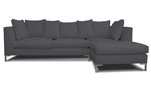 Decenni Right Arm Chaise Facing Divina Modern Sectional Sonoma Slate front-189689