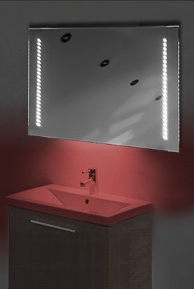 Ambient Ultra-Slim Led Bathroom Mirror With Demister Pad & Sensor K60R