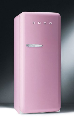 Smeg FAB28UROR 9.22 cu. ft. 50's Style Refrigerator - Pink, Right Hinge