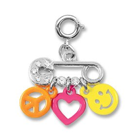 Safety Pin Charm For Children's Bracelets by CharmIt! High IntenCity!