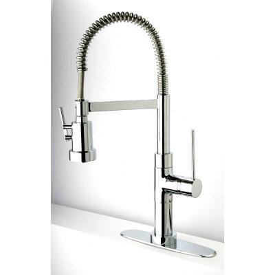 LaToscana 78CR557PHD Elba Single Handle Pull-Out Spray Kitchen Faucet, Chrome Finish