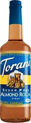 Torani Syrup Sugar Free Almond Roca 33.81-Ounce Pack of 3