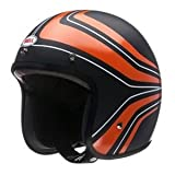 Bell Mens Custom 500 Open Face Motorcycle Helmet Panel Orange Large L