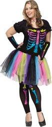 [Women's Costume: Funky Punk Bones-Medium/Large PROD-ID : 1424272] (Funky Punk Bones Adult Costumes)