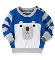 Pure Cotton Polar Bear Jumper