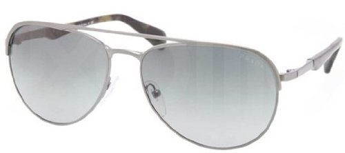 prada Prada 51QS LAI2D0 Matte Gunmetal 51QS Aviator Sunglasses Lens Category 3
