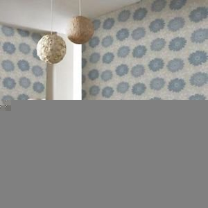 Fresco Stria Floral Wallpaper - Duck Egg from New A-Brend