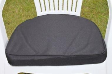 UK-Gardens Schwarz Garten Möbel stuhl Polsterung Sitz Pad Rander Back – Ideal für Plastik Garten stuhl – Wechselbarer Bezug – Nutzung in Haus oder Garten günstig kaufen