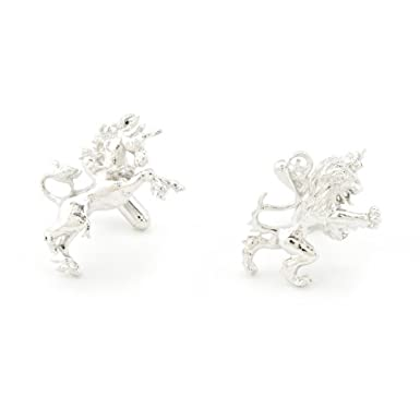 Lion and Unicorn Cufflinks by Bill Skinner||EVAEX