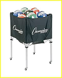Champion Sports Deluxe Volleyball Storage Cart