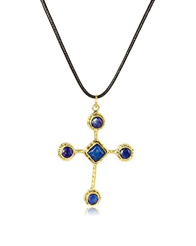 Saachi Lapis Stone Cross Necklace