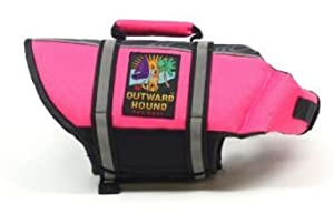 Outward Hound Pet Saver Life Jacket, Pink, X-Small
