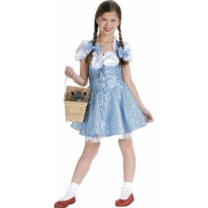 Girls Sequin Dorothy Costume - Wizard of Oz - Large