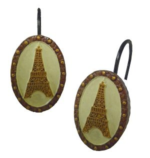 Curtains Ideas best shower curtain hooks : Best I Love Paris Shower Curtain Hooks For sale ~ Orange shower ...