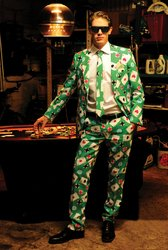 [Poker Face Suit Size 48 Costume PROD-ID : 1928265] (Mafia Themed Costume)