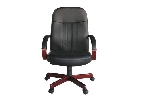 boss-office-products-b8376-c-leatherplus-executive-chair-with-cherry-finish-in-black