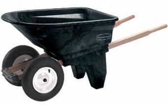 Rubbermaid Commercial FG565961BLA Unassembled Plastic 2-Wheel Wheelbarrow, 200-Pound Capacity