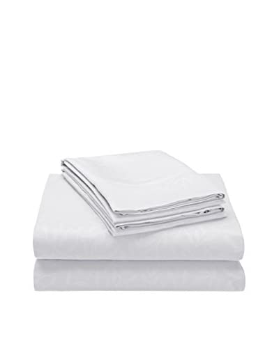 Palace Linens Signature Embossed Leaves Collection Piece Sheet Set