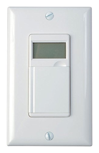 Woods 59020 In-Wall 7-Day Digital Timer, White
