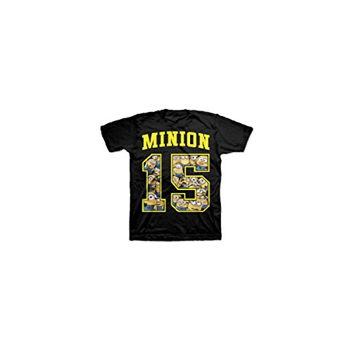 Universal Studios Despicable Me Jersey Style #15 Minion T shirt - Black (Large) (Jersey Boy Tickets compare prices)