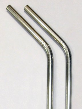 Stainless Steel Drinking Straws - 2 Pack Metal Straw + Cleaner - Eco Friendly, Safe, Non-Toxic Non-Plastic front-994756