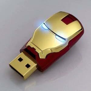 Iron Man Masque Avengers Métal 4 Go Clé USB 2.0 Flash Drive Memory Stick Rouge
