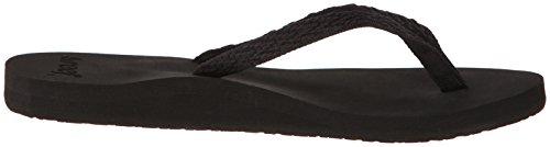 Reef Women's Ginger Drift Flip Flop,Black/Black,10 M US