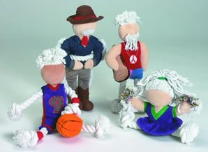 Classic Pet Products Hoopster Plush and Rope Doll 16in Dog Toy