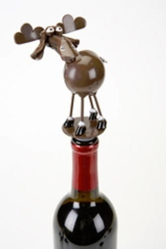 Yardbirds Junkyard Metal Spoonies Moose Wine Bottle Stopper - 81441